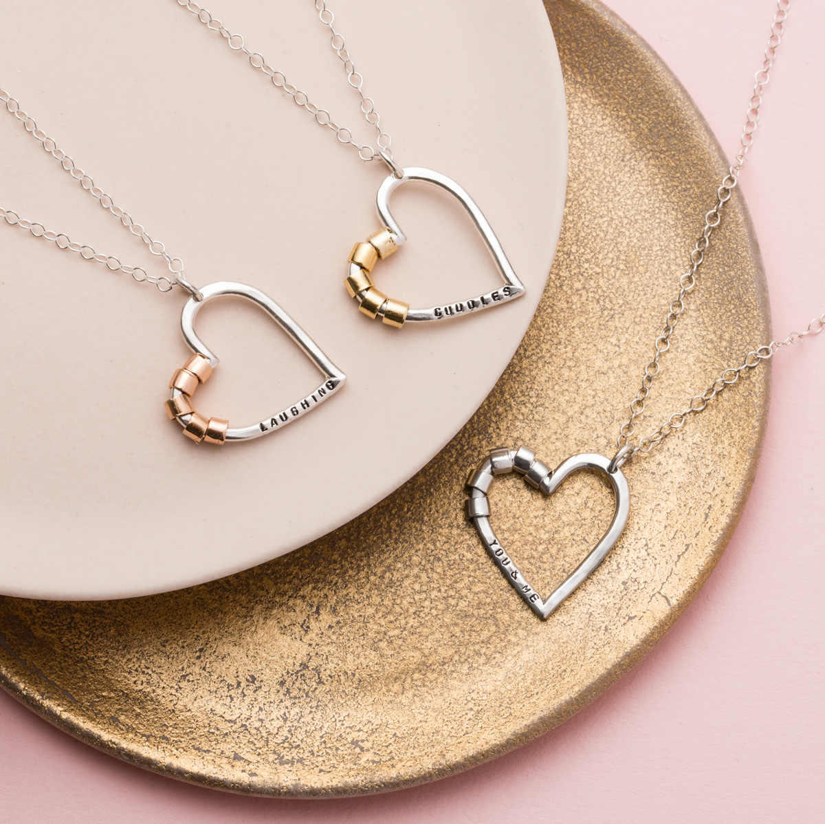 Personalised Posh Totty Designs Secret Heart Necklace