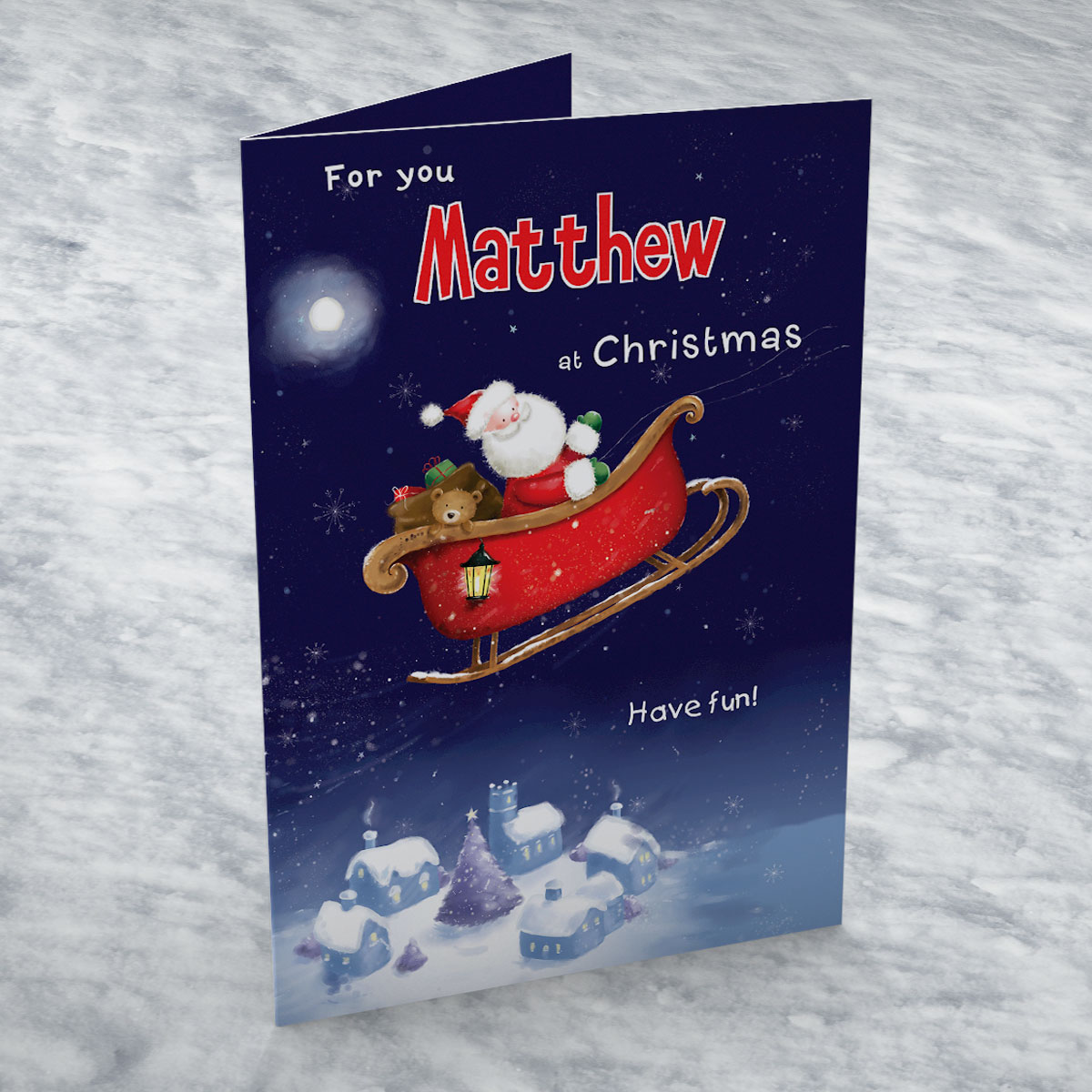 Personalised Card - Santa Sleigh