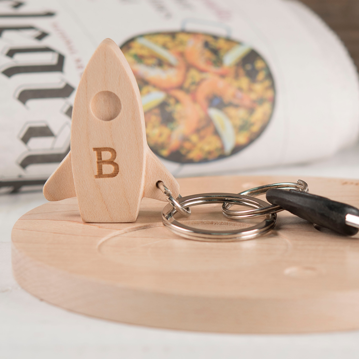 Personalised Apollo Key Holder Set  Initial & Message