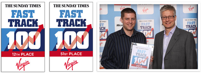 Sunday Times Virgin Fast Track 100 Awards